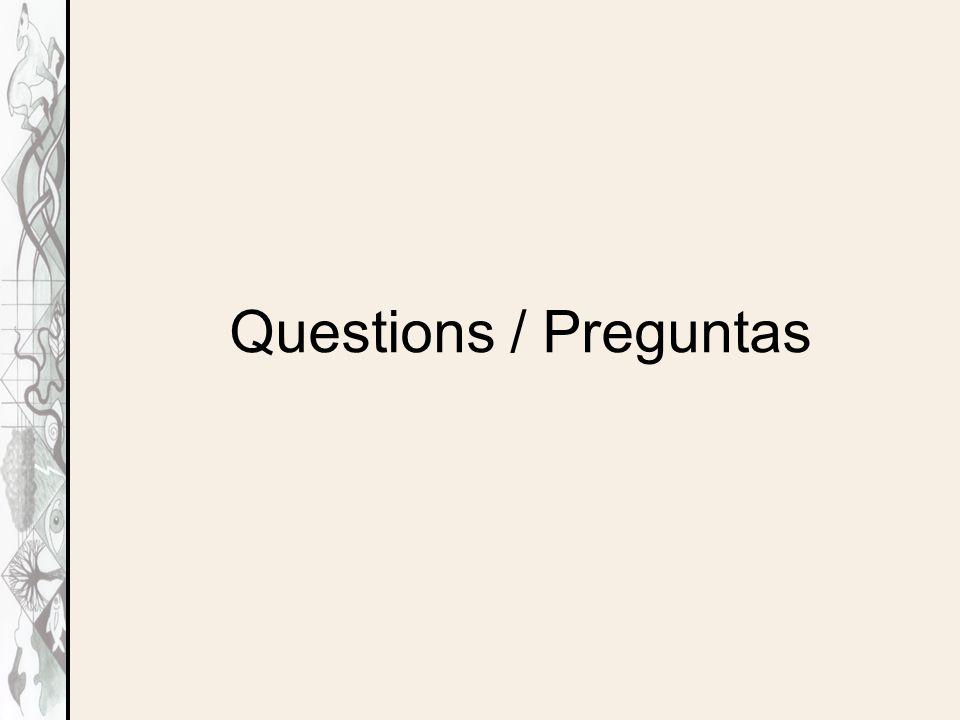 Questions / Preguntas