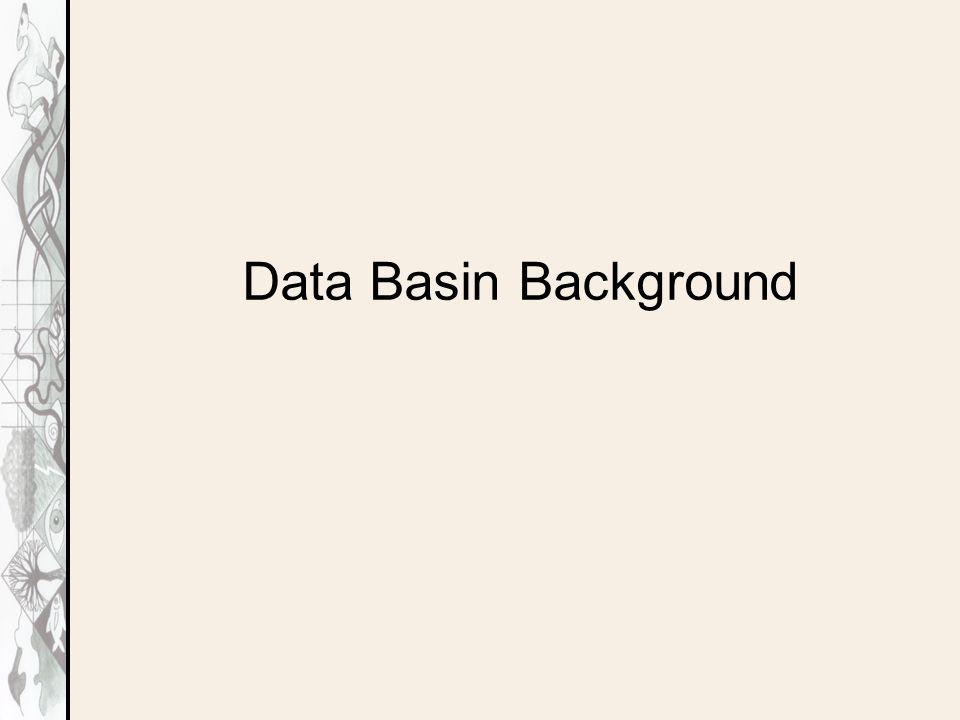 Data Basin Background