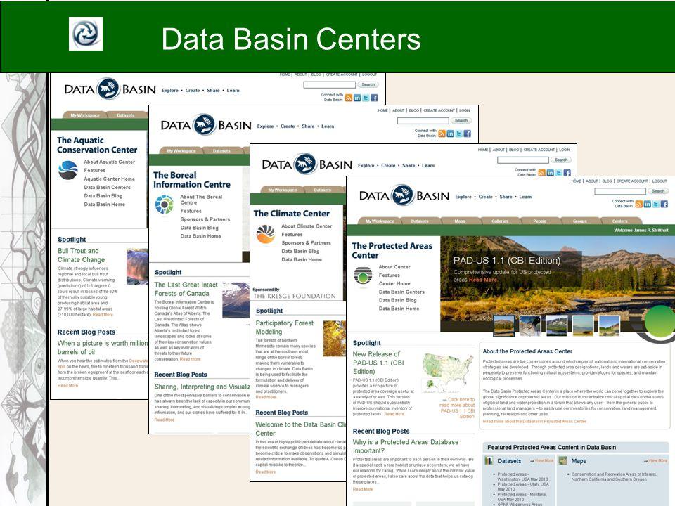 Data Basin Centers