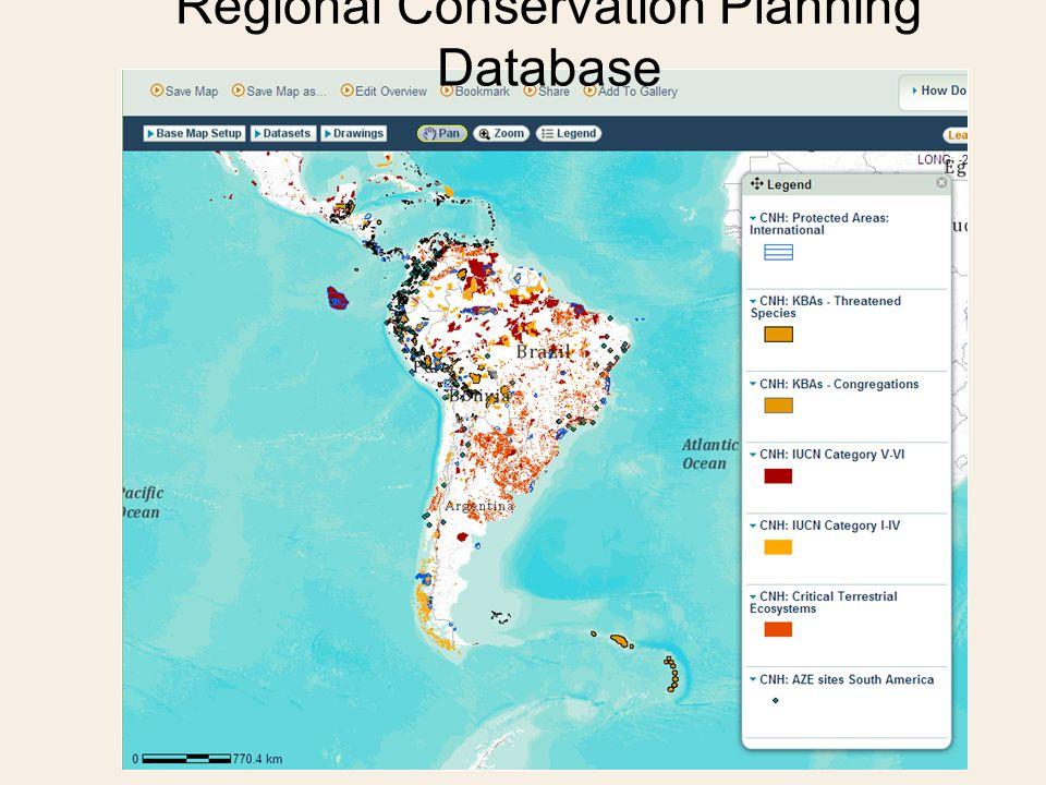 Regional Conservation Planning Database
