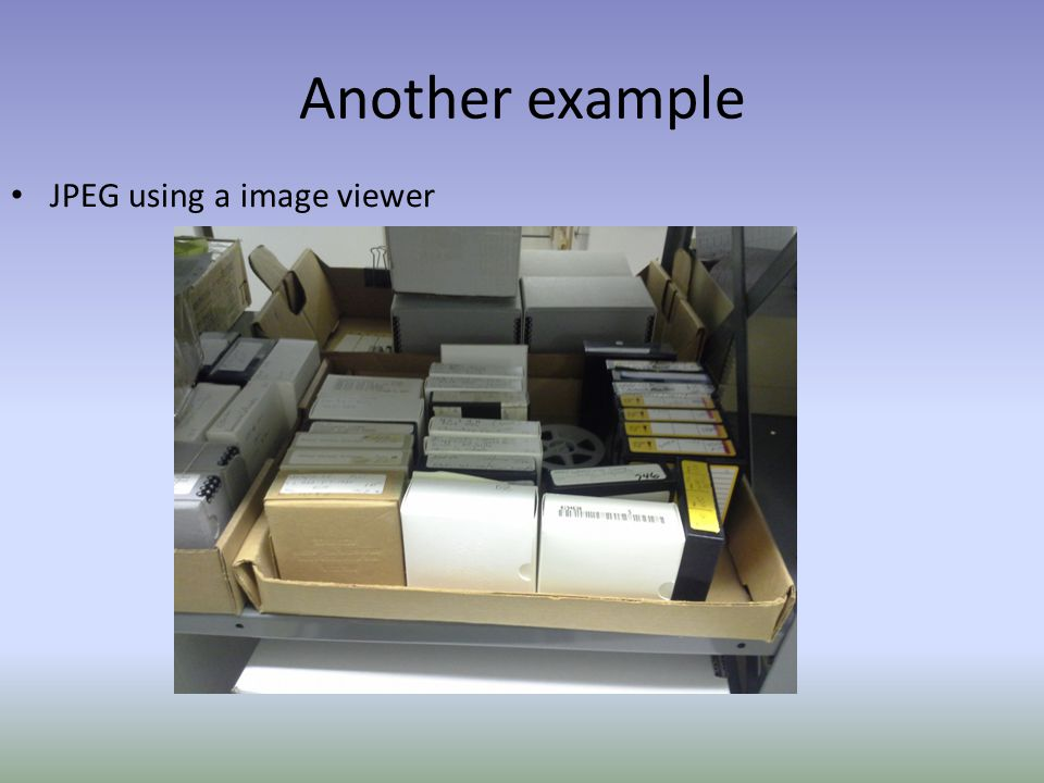 Another example JPEG using a image viewer