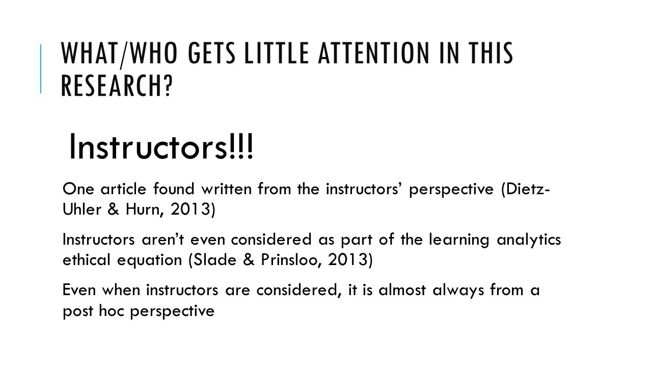 BUT DON'T FEEL TOO BAD ABOUT THIS… Instructors in virtual settings have a long history of being understudied:  Distance Education (Dillon & Walsh, 1992; Thompson, 2007)  Online Delivery in General (Dziuban, Shea, & Arbaugh, 2005; Shea, 2007; Shea, Pickett, & Li, 2005)  Online Delivery in Business Schools (Arbaugh, DeArmond, & Rau, 2013; Shea, Hayes, & Vickers, 2010)