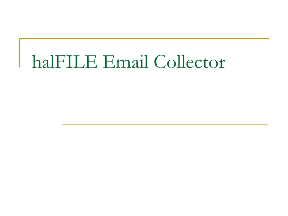 halFILE Email Collector