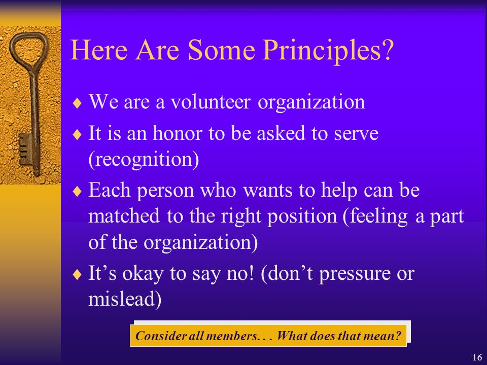 16 Here Are Some Principles.