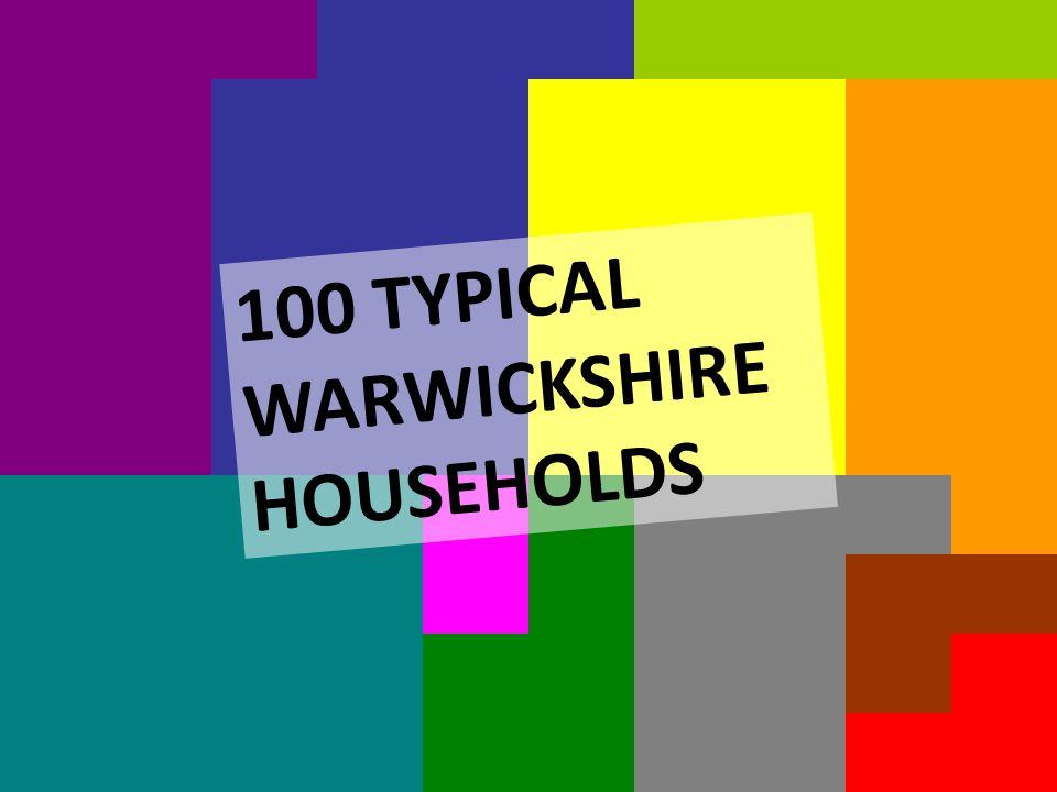 100 TYPICAL ADF VICTIMS 100 TYPICAL WARWICKSHIRE HOUSEHOLDS