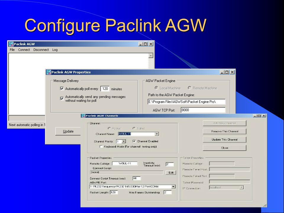 Configure Paclink AGW