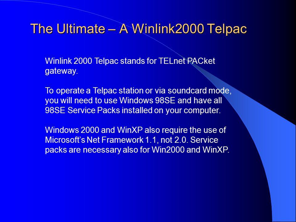 Winlink 2000 Telpac stands for TELnet PACket gateway.