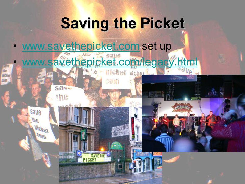 Saving the Picket www.savethepicket.com set upwww.savethepicket.com www.savethepicket.com/legacy.html