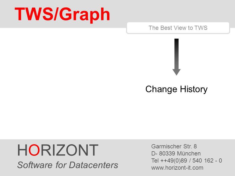 HORIZONT 1 TWS/Graph HORIZONT Software for Datacenters Garmischer Str.