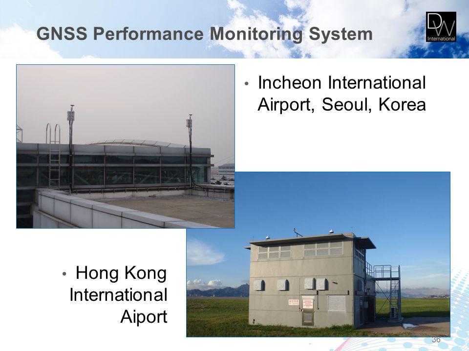 36 Incheon International Airport, Seoul, Korea Hong Kong International Aiport GNSS Performance Monitoring System