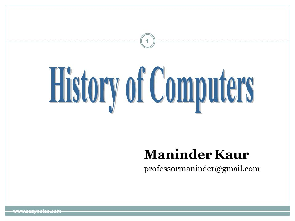 1 Maninder Kaur professormaninder@gmail.com www.eazynotes.com