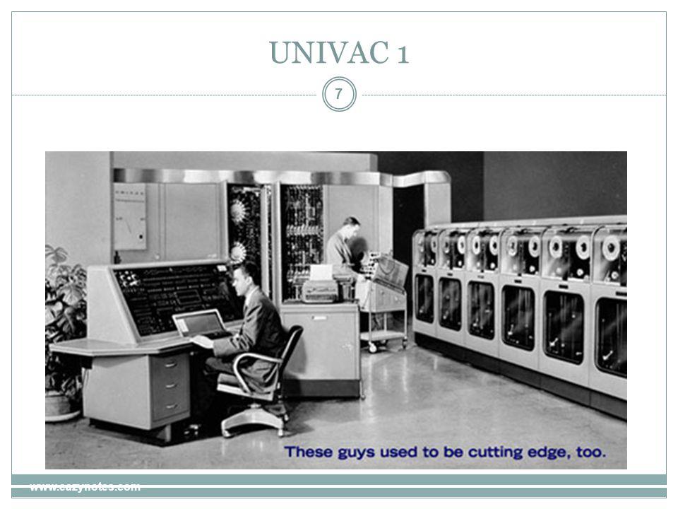 UNIVAC 1 7 www.eazynotes.com