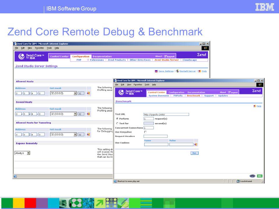 IBM Software Group Zend Core Remote Debug & Benchmark