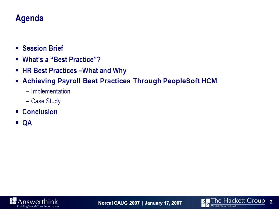 """Norcal OAUG 2007 