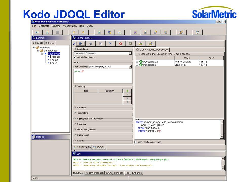 Kodo JDOQL Editor