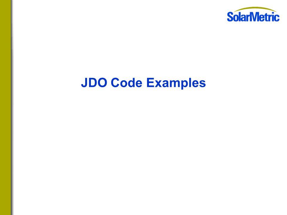 JDO Code Examples
