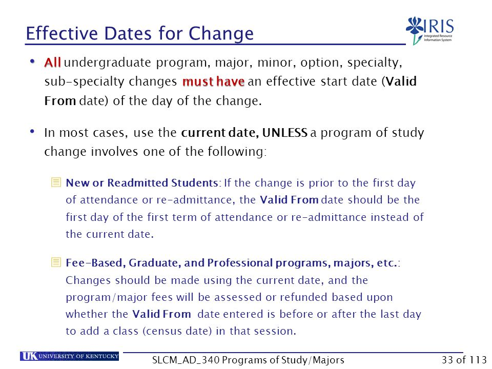 Main Program of Study Change Select Transfer Registrations  Note: This step ensures that any bookings the student may have made will transfer to the new program.