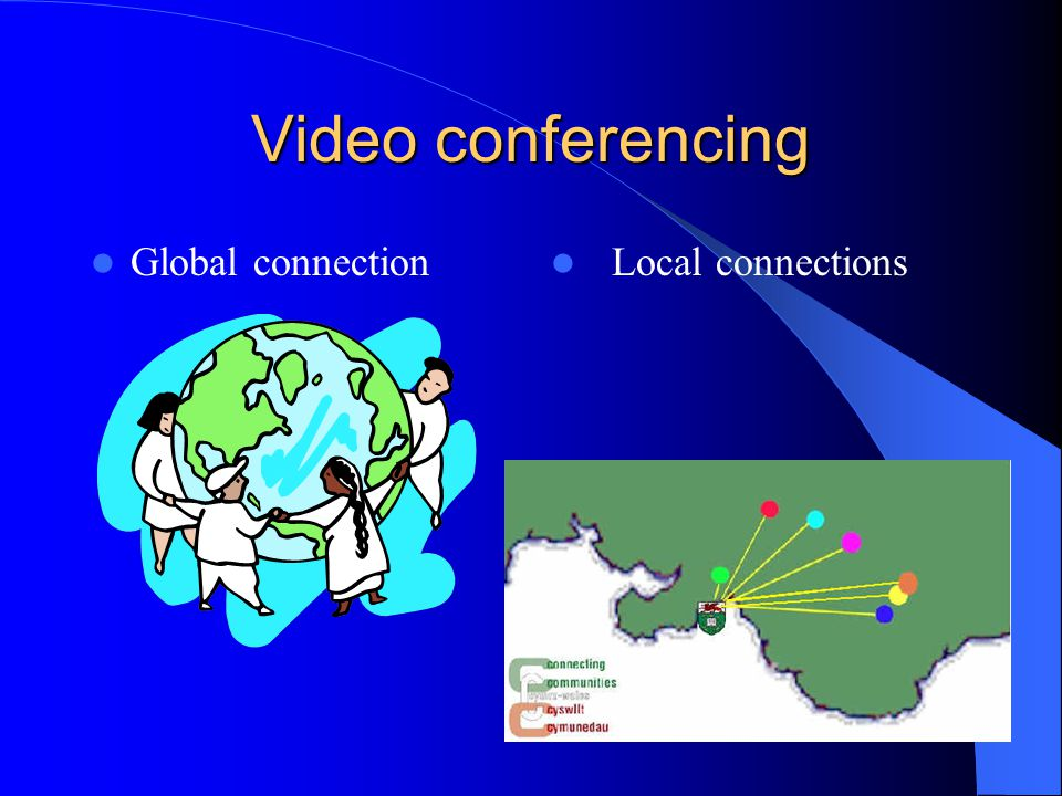 Video conferencing Global connection Local connections