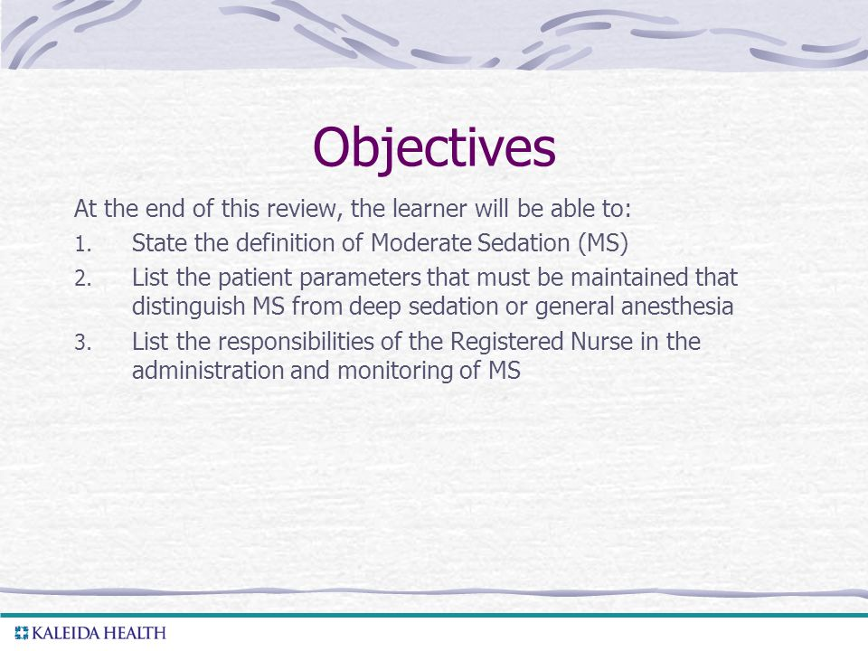Objectives At the end of this review, the learner will be able to: 1.