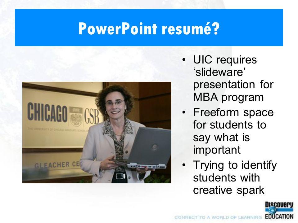 PowerPoint resumé.