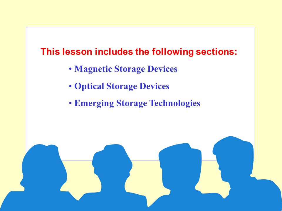 Types of Storage Devices section 5a