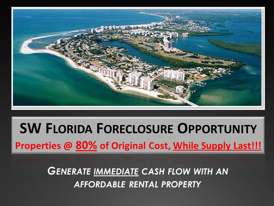 G ENERATE IMMEDIATE CASH FLOW WITH AN AFFORDABLE RENTAL PROPERTY