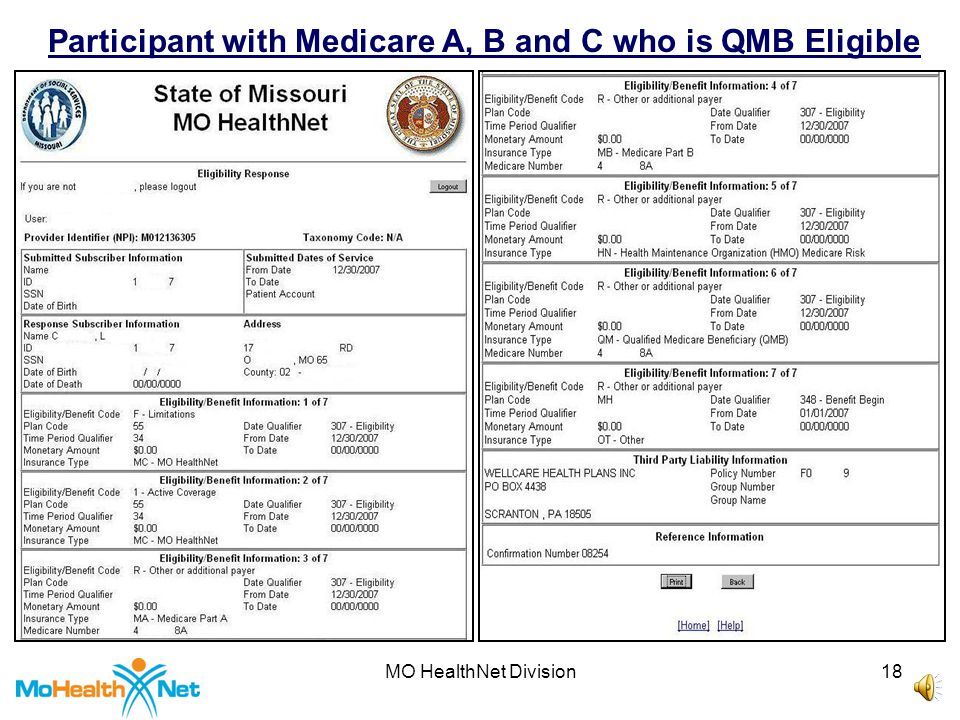 MO HealthNet Division17 Participant with MHD Only