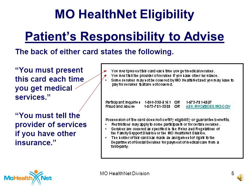 MO HealthNet Division15 MO HealthNet Eligibility Reasons to Check Eligibility 7.