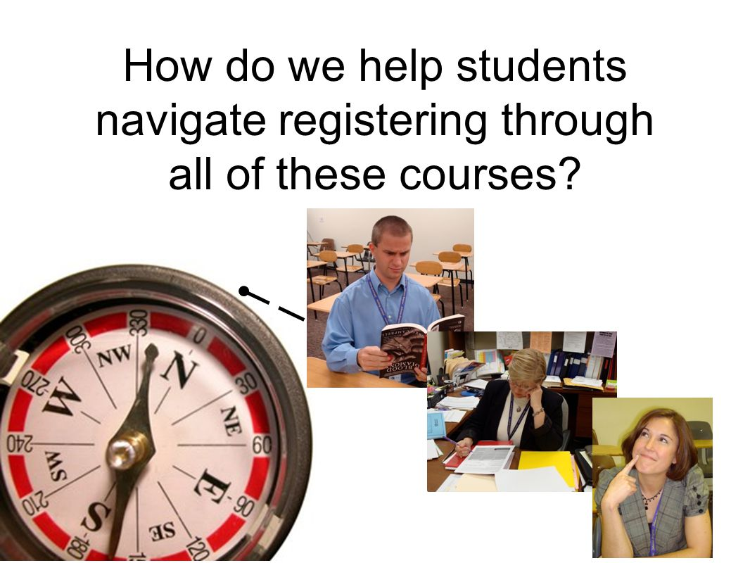 How do we help students navigate registering through all of these courses?