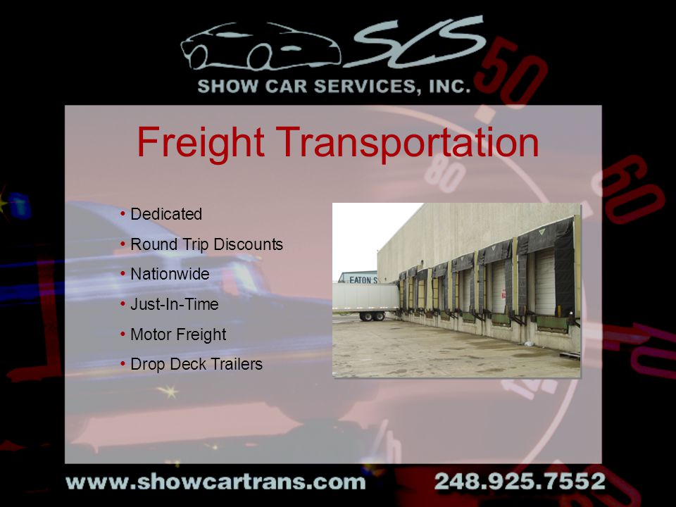 Dedicated Round Trip Discounts Nationwide Just-In-Time Motor Freight Drop Deck Trailers Freight Transportation