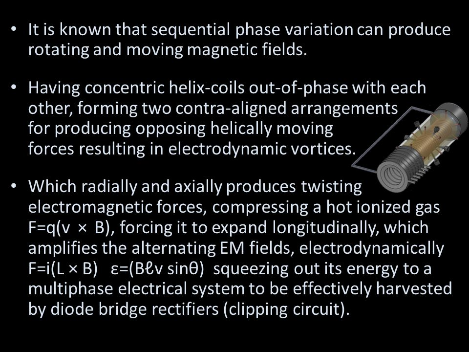 It is known that sequential phase variation can produce rotating and moving magnetic fields.