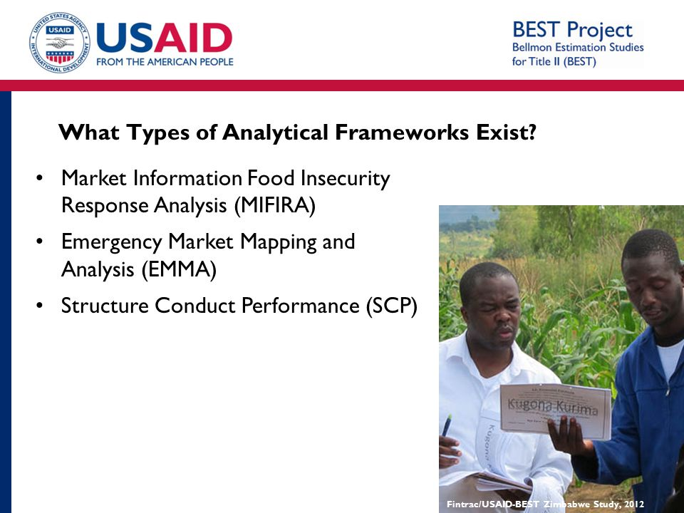 What Types of Analytical Frameworks Exist? Market Information Food Insecurity Response Analysis (MIFIRA) Emergency Market Mapping and Analysis (EMMA)