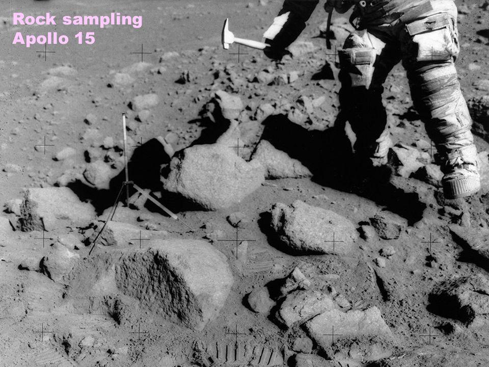 Rock sampling Apollo 15