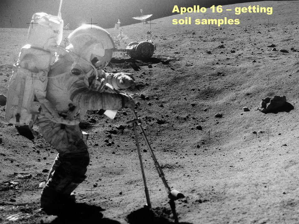 Apollo 16 – getting soil samples