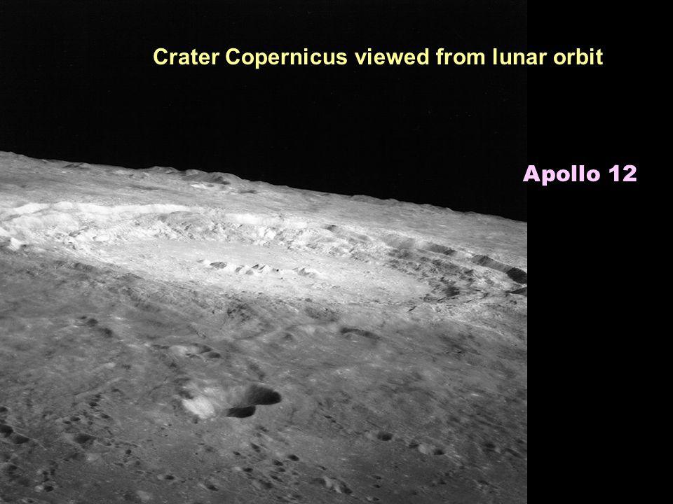Crater Copernicus viewed from lunar orbit Apollo 12