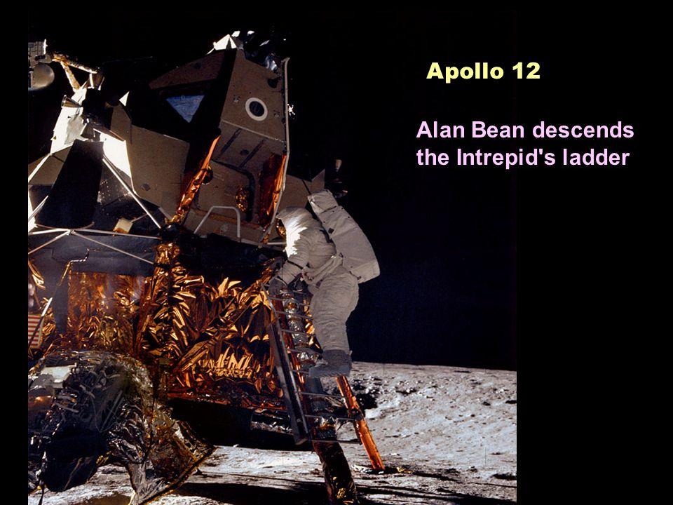 Apollo 12 Alan Bean descends the Intrepid s ladder