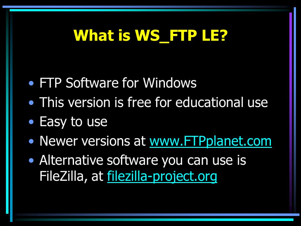 What is WS_FTP LE.