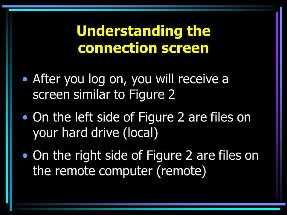 Figure 2 Files/folders on your computerFiles/folders on student server
