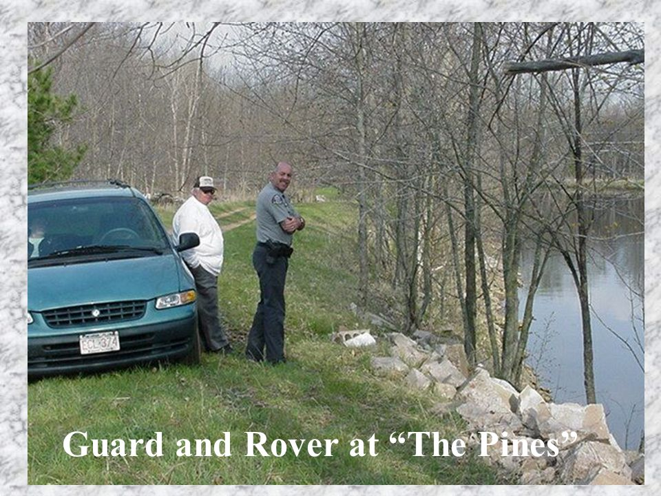 "Guard and Rover at ""The Pines"""