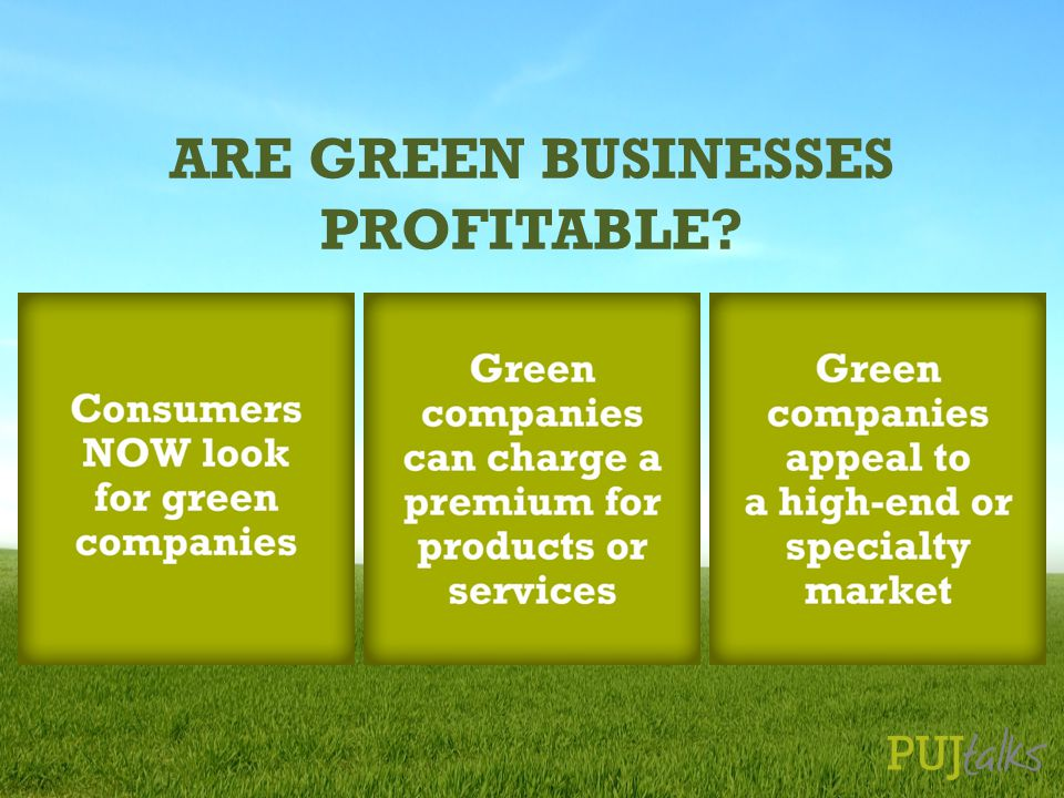 ARE GREEN BUSINESSES PROFITABLE?