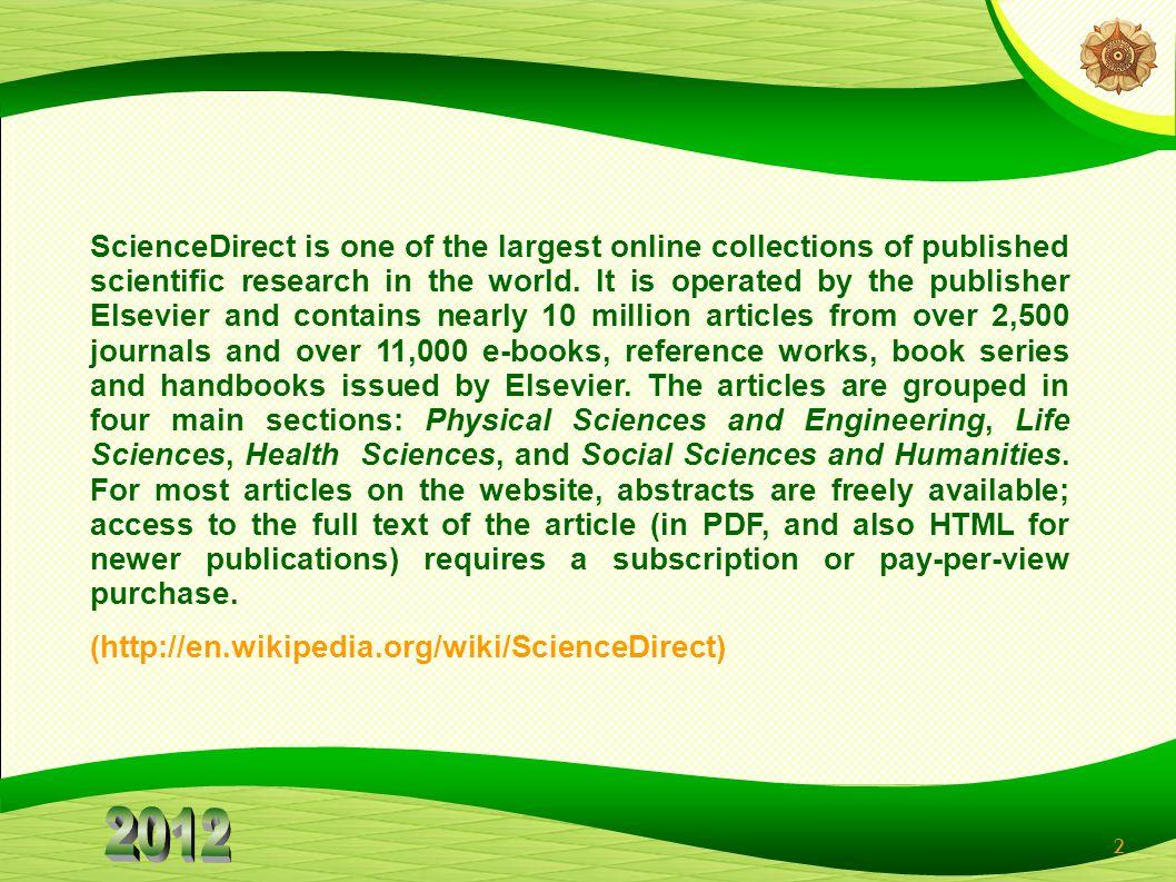 3 ScienceDirect HOME