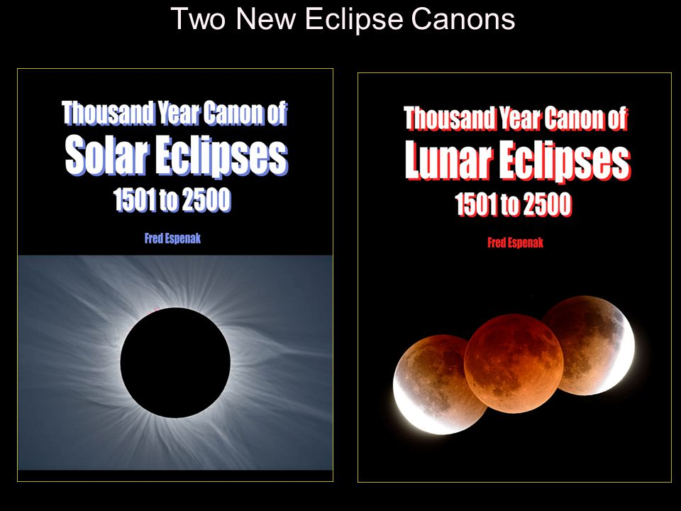 Two New Eclipse Canons