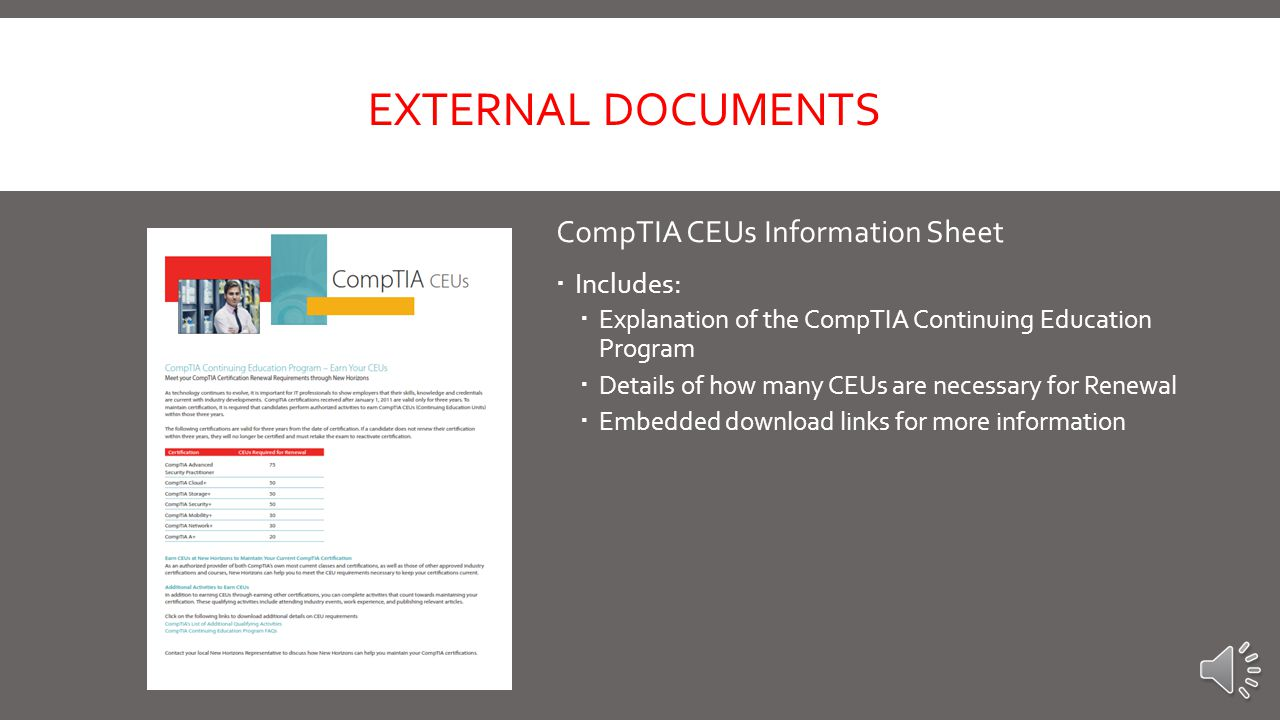 Additional CompTIA Sell Sheets – 11 Total EXTERNAL DOCUMENTS