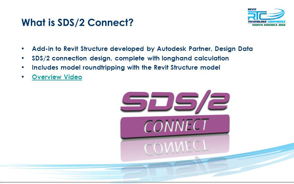 What is SDS/2 Connect? Add-in to Revit Structure developed by Autodesk Partner, Design Data SDS/2 connection design, complete with longhand calculatio