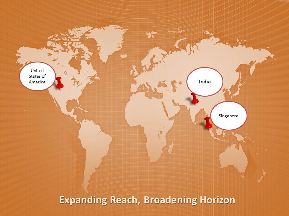 United States of America India Expanding Reach, Broadening Horizon Singapore