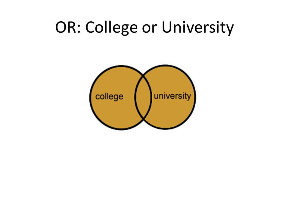 OR: College or University