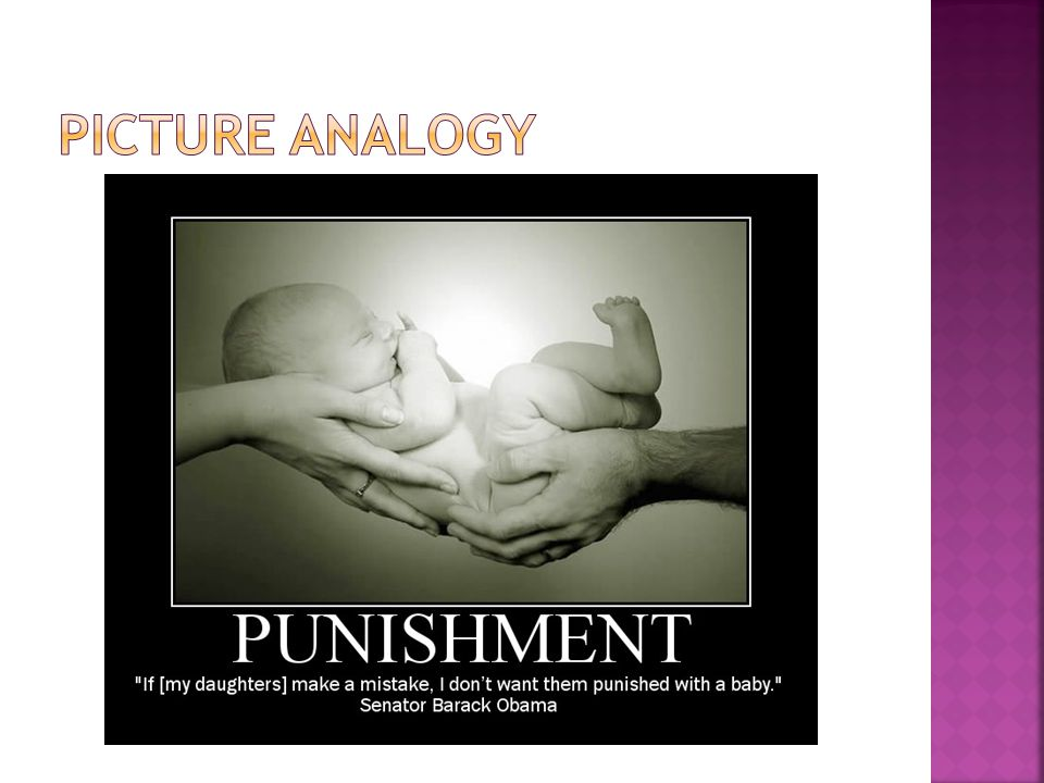 This picture juxtaposes a quote that Obama said about abortion with a picture of a baby in order to make Obama's argument for abortion appear more ridiculous.