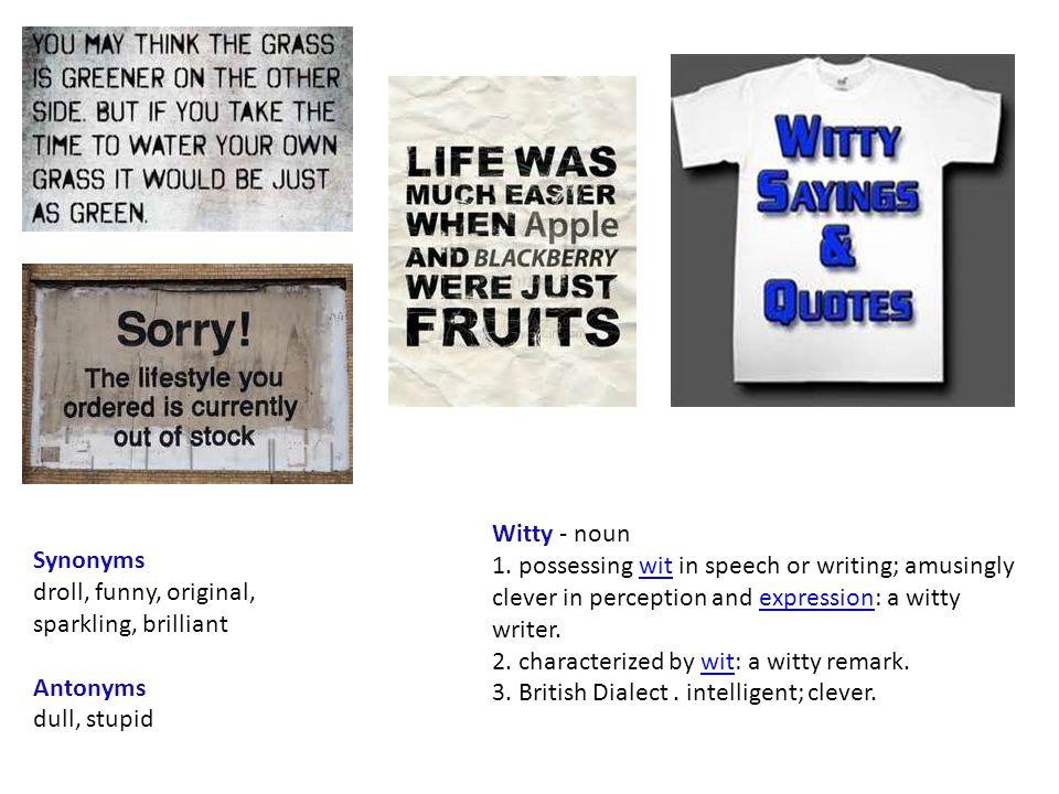 Witty - noun 1.