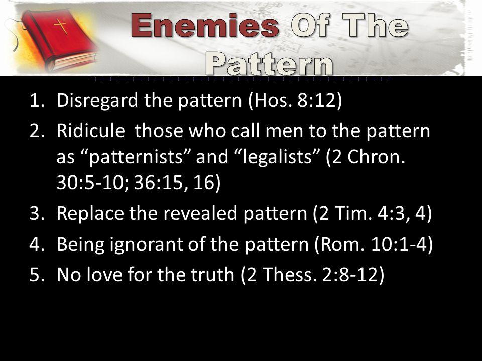 1.Disregard the pattern (Hos.