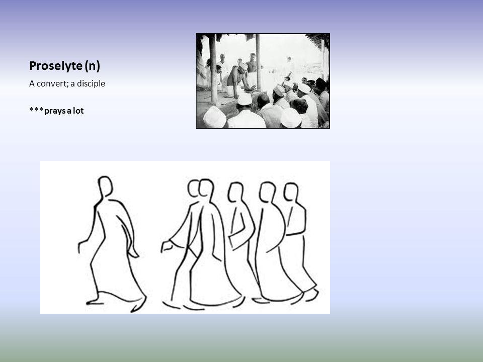 Proselyte (n) A convert; a disciple ***prays a lot
